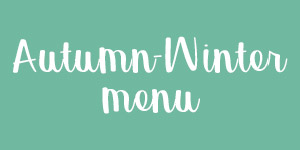 Autumn winter menu